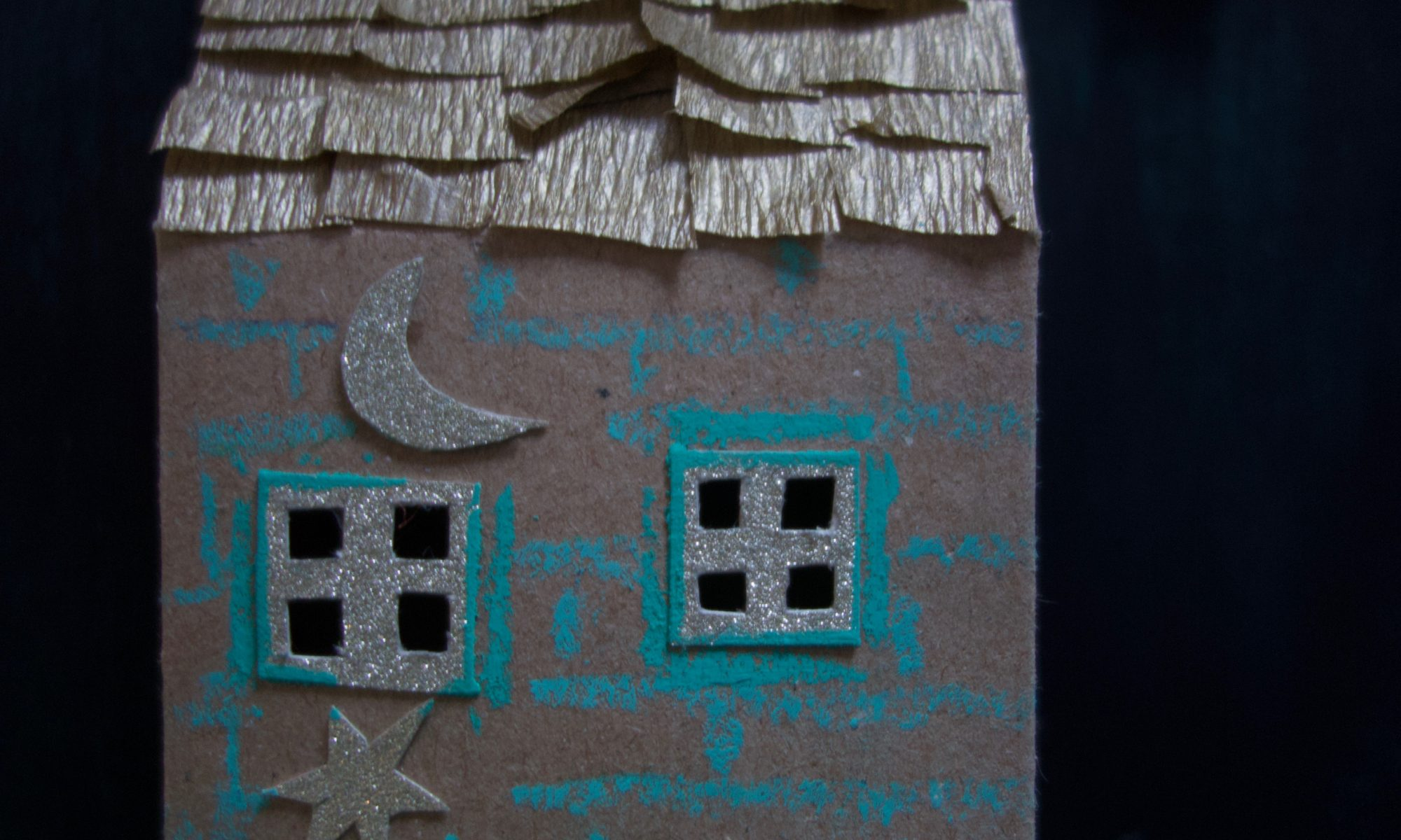 Cardboard house model