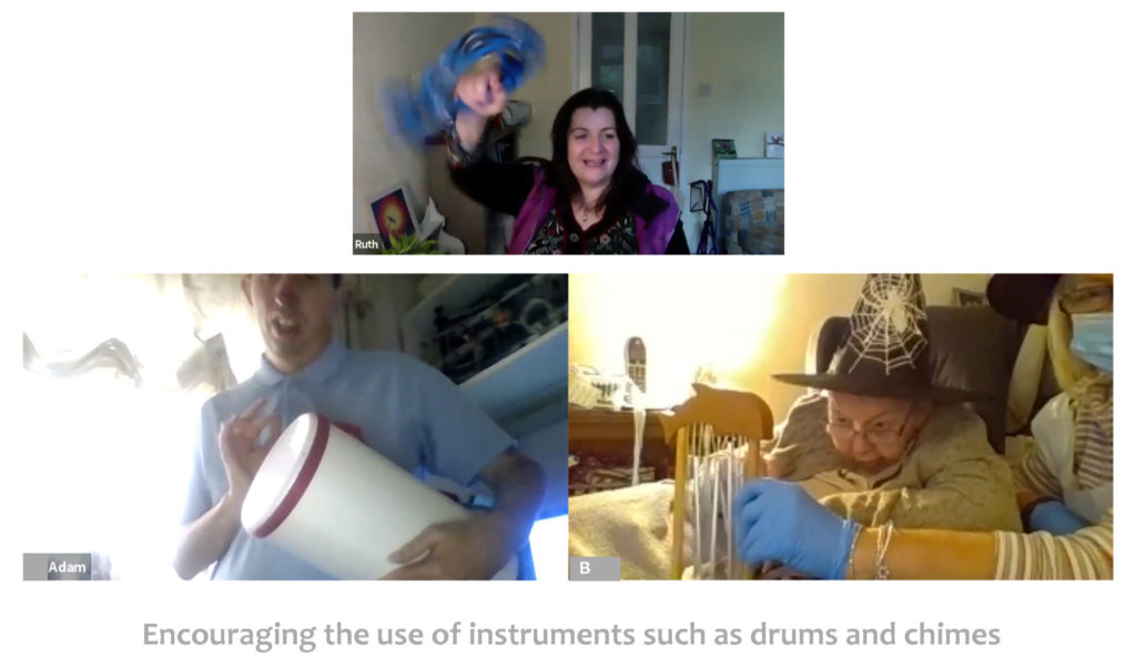 Session encouraging the use of drums